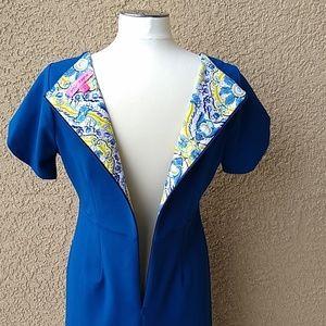 Betsey Johnson Dresses - Betsey Johnson Women's Royal Crepe V-neck Dress